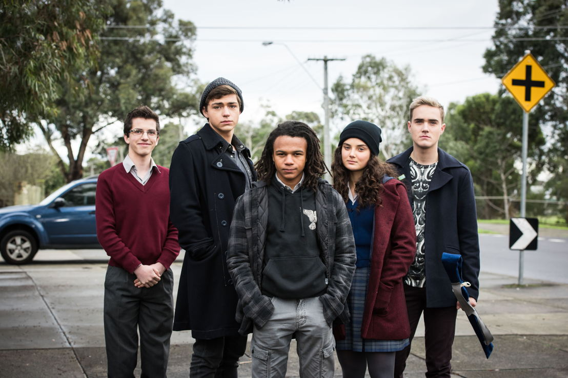 """The cast of """"Nowhere Boys""""."""