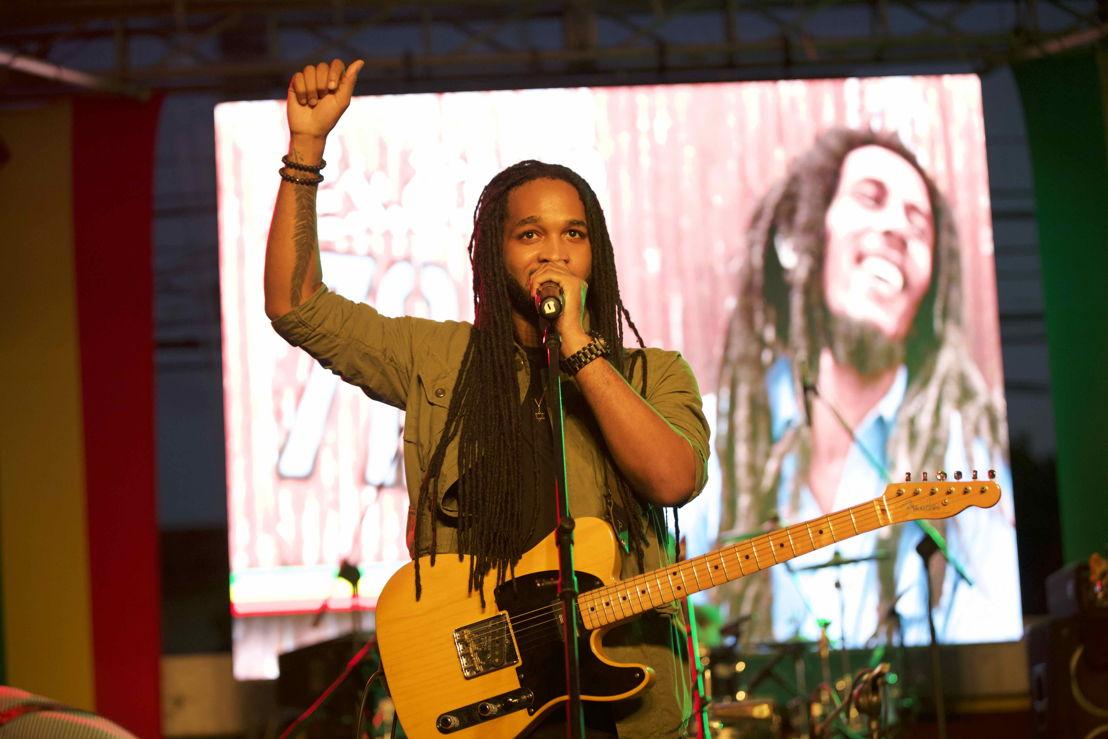 Bob Marley birthday tribute, Kingston, Jamaica<br/>Photo credit: Garreth M. Daley - GD Films