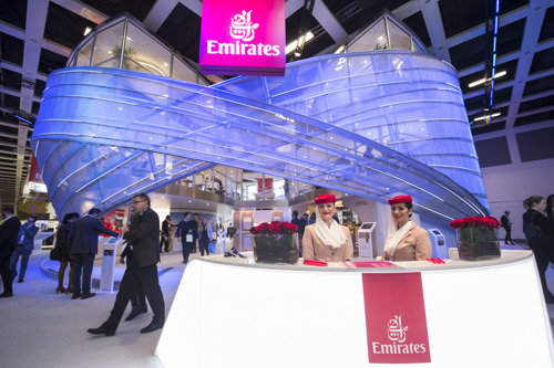 Emirates' Infinite Possibilities Stand and new A380 Onboard Lounge draw the crowds at ITB Berlin 2017