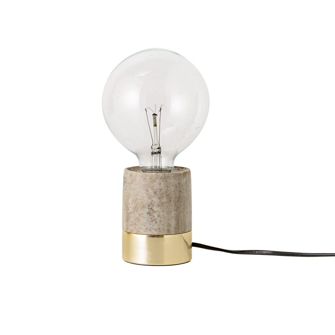 Bloomingville lamp marmer goud