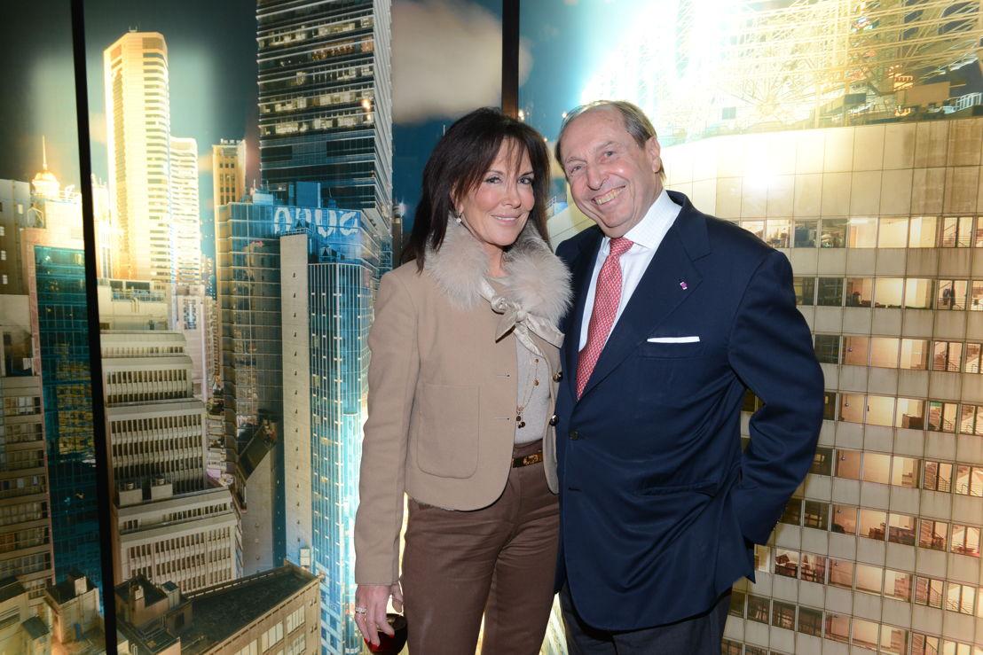 La baronne Karin Gerard (Présidente de la cour d'appel de Belgique) et Monsieur Christian dumolin (Président et CEO de Koramic)