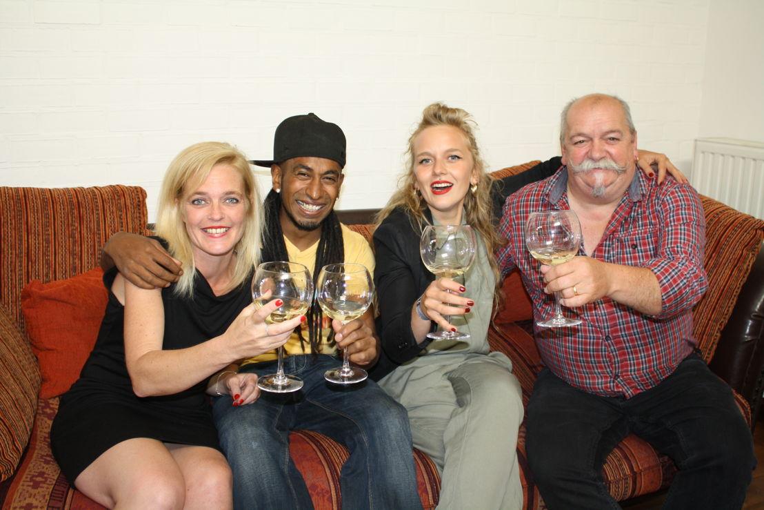 Ellen, Mathew, Charlotte en Jean-Marie
