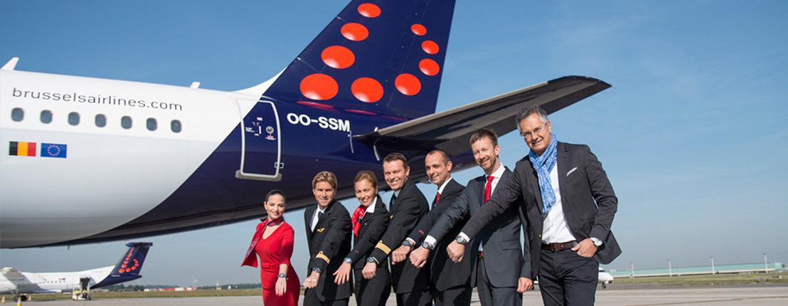 Brussels Airlines verwelkomt Ice-Watch aan boord