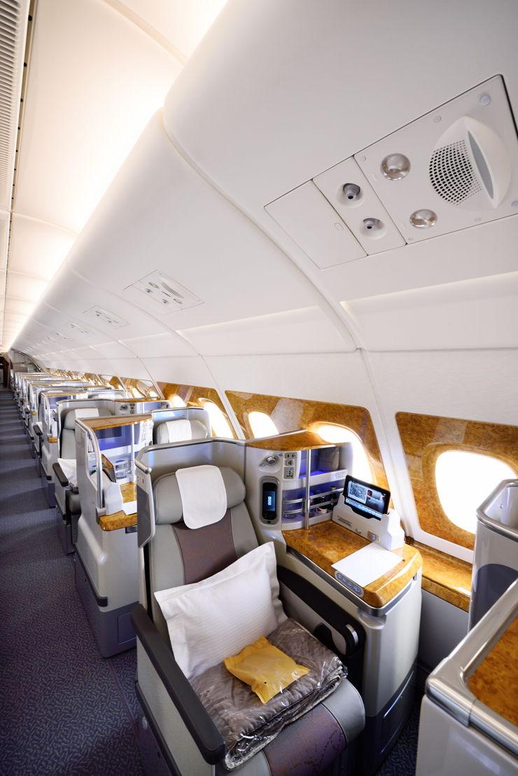 درجة رجال الأعمال على طائرة الجيل الجديد من الإيرباص A380