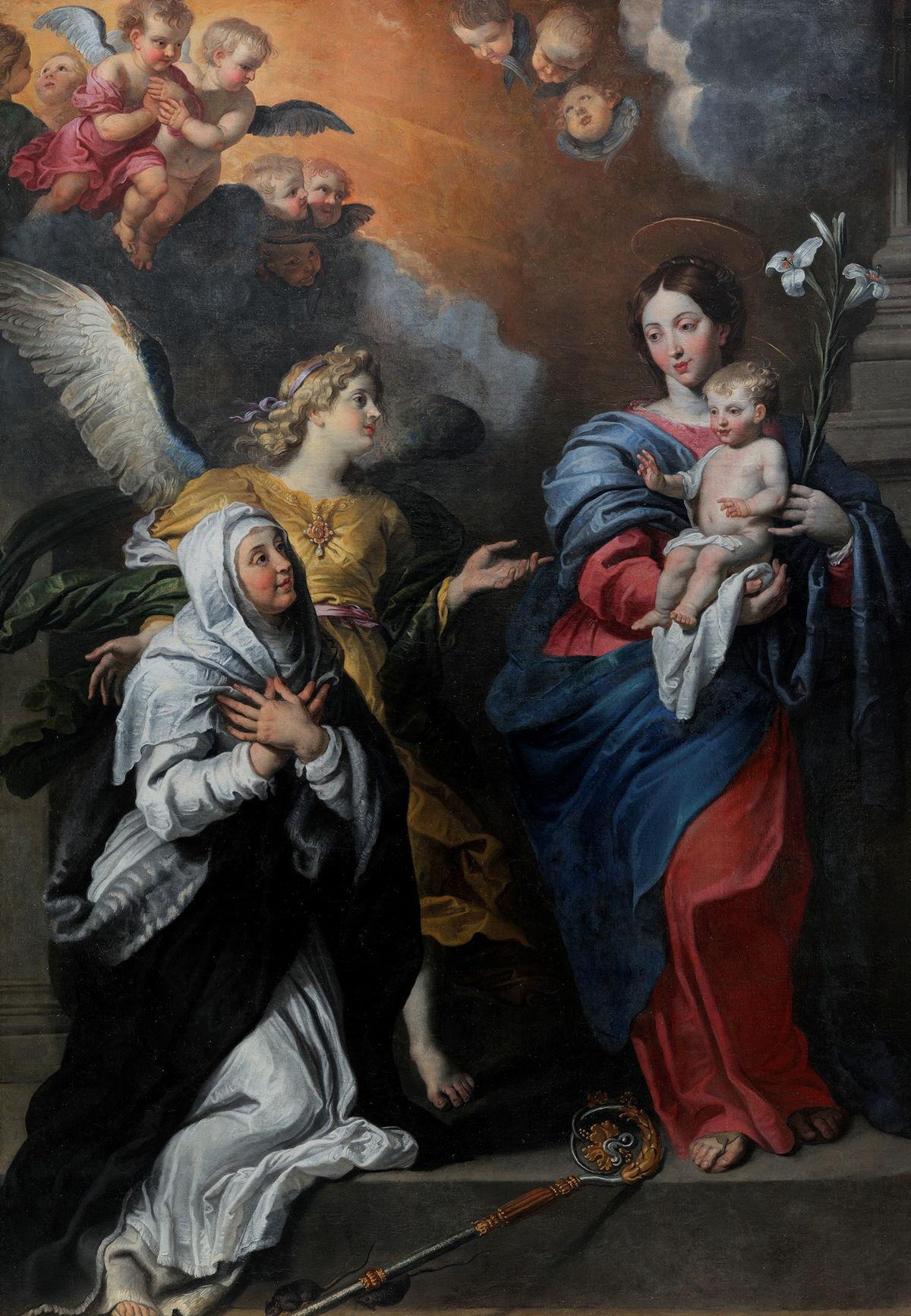 Gerard Seghers, Het Visioen van de heilige Gertrudis, 1625, collectie Kasteel van Gaasbeek, foto Jo Exelmans