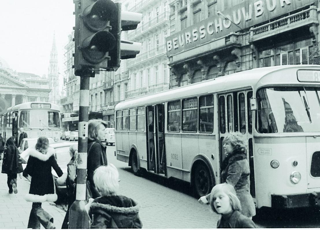 De Beursschouwburg na een eerste gevelrenovatie, ca. 1985. Foto archief Beursschouwburg