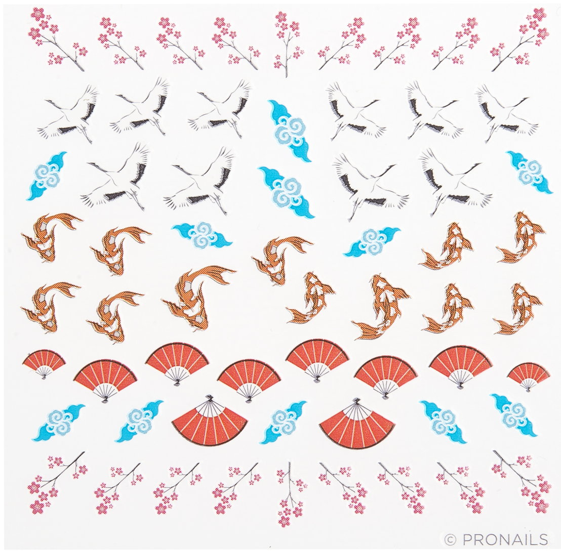 Nail Stickers Kois Cranes uit Rising Sun Collection