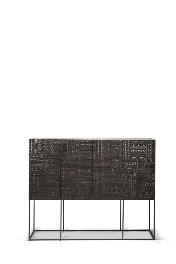 Ancestors Tabwa sideboard high - 4 doors 4 drawers - 200x45x160cm