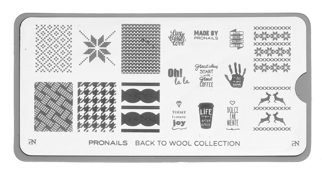 Stamping Plate uit Back to Wool collection