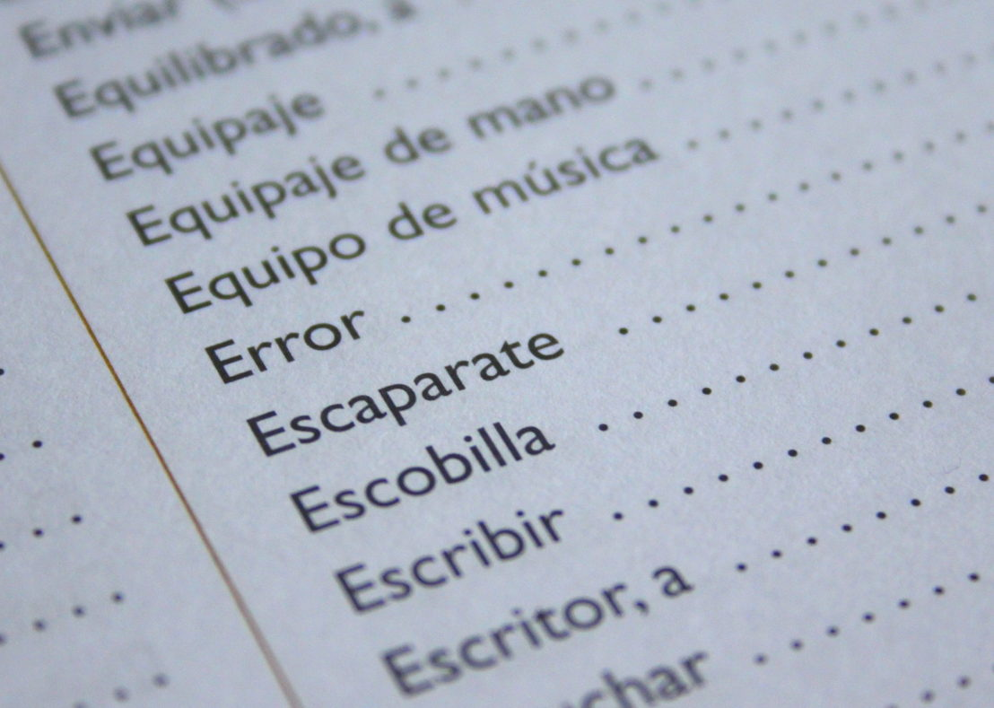 Learning Spanish.