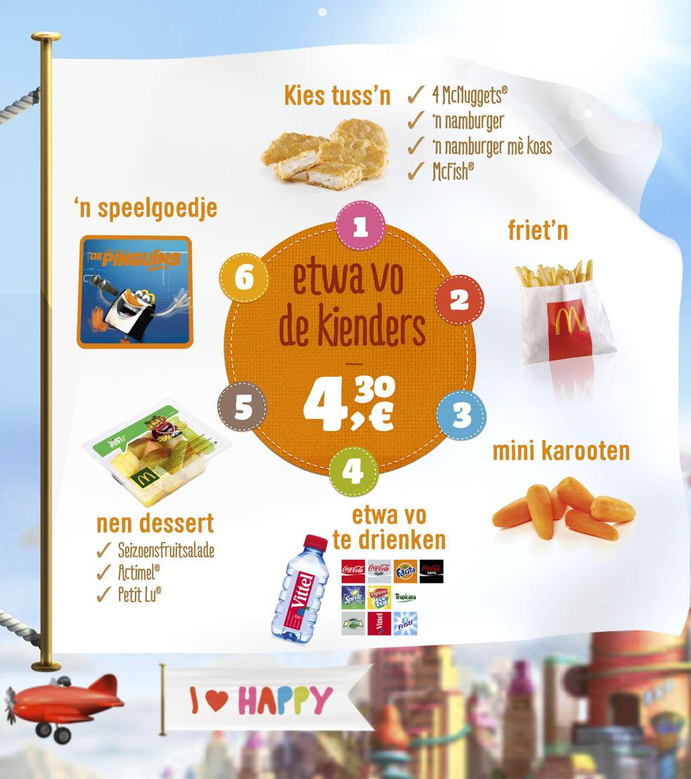 Digitaal menubord Happy Meal