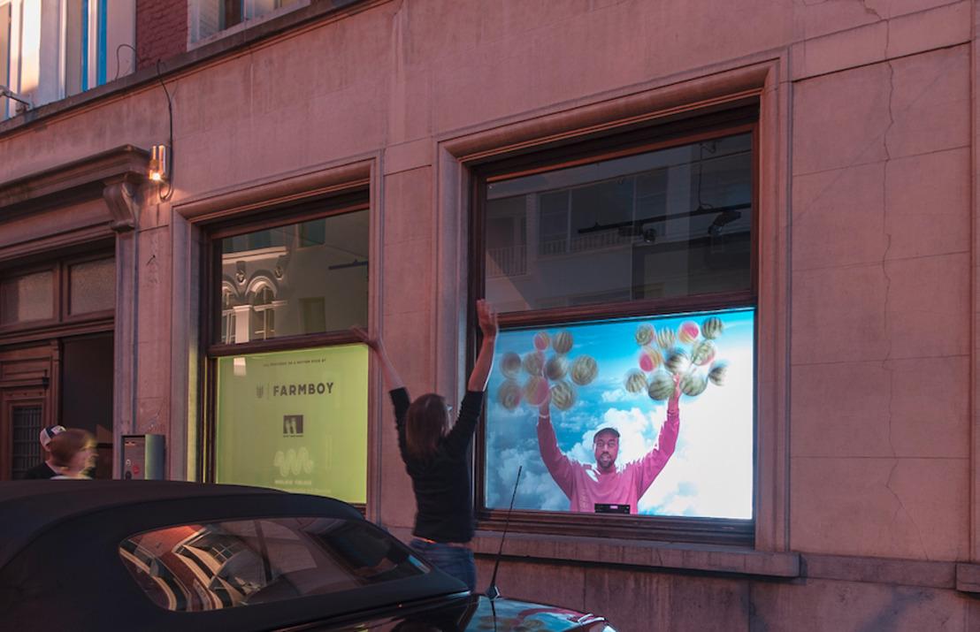 10 dagen lang 'interactieve installatie' in Gentse etalage