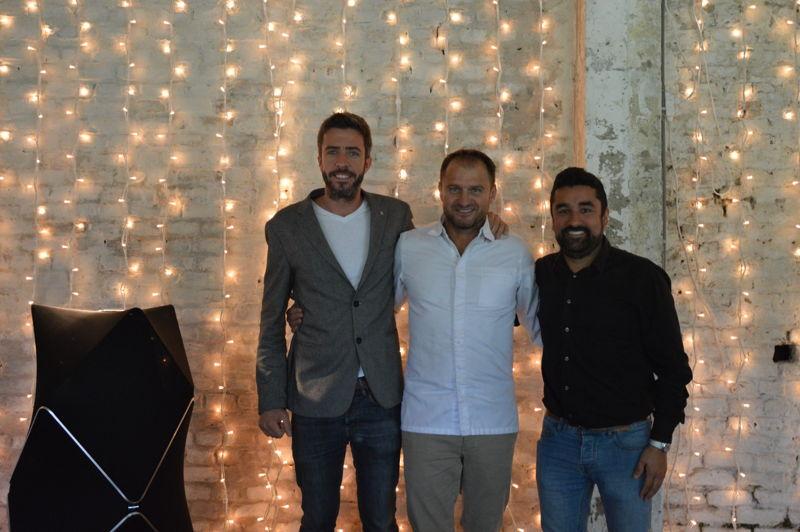 Tom van Damme, Wout Bru et Filipe Reinoso Carvalho