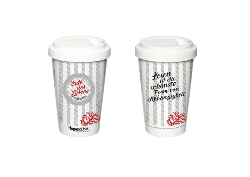 Der neue Hugendubel Kaffee-Becher
