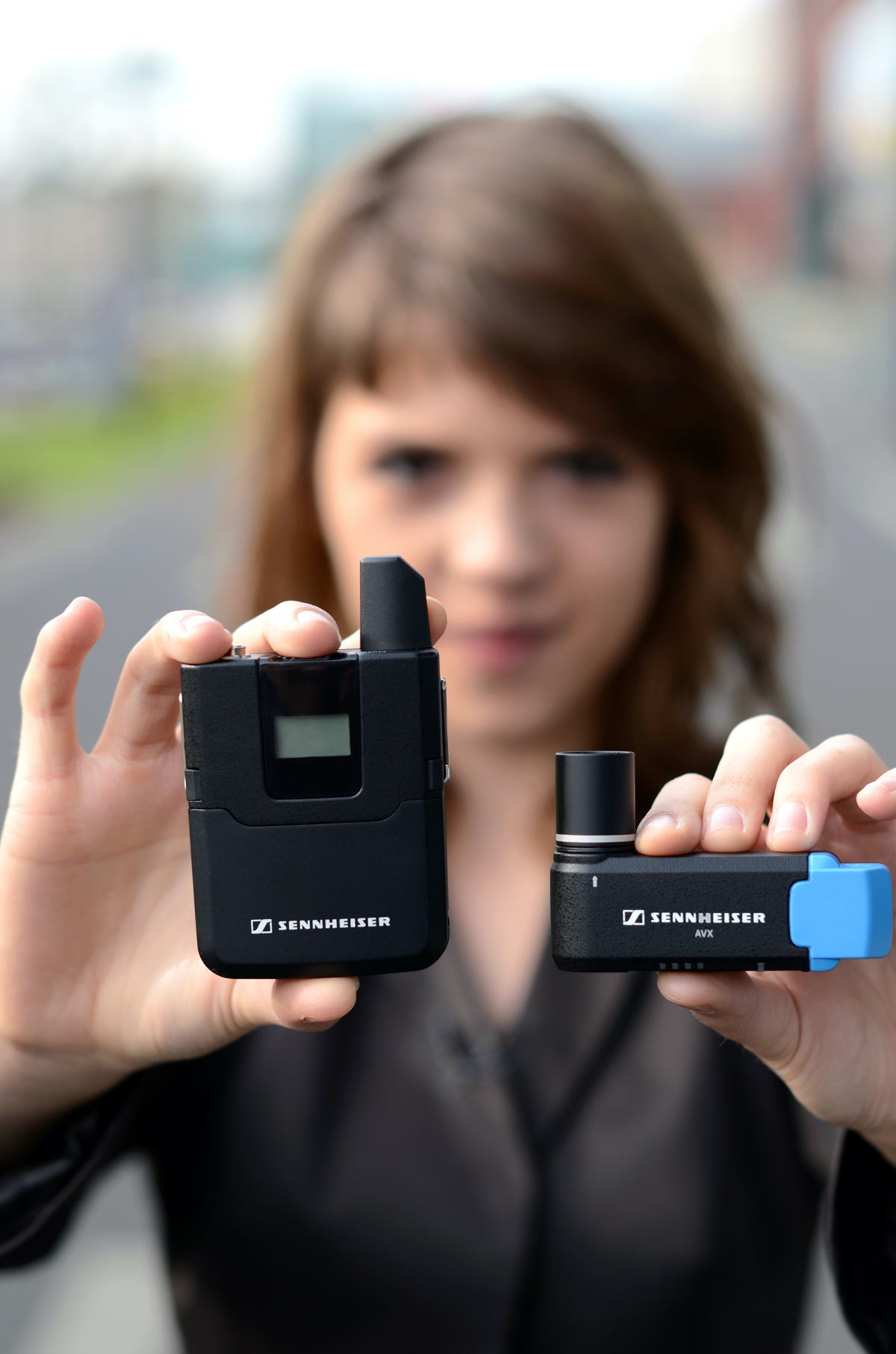 Sennheiser AVX MKE-2 Set (pictured) or the XSW-D Portable Lavalier Set offer flexibility for those who like to walk and talk