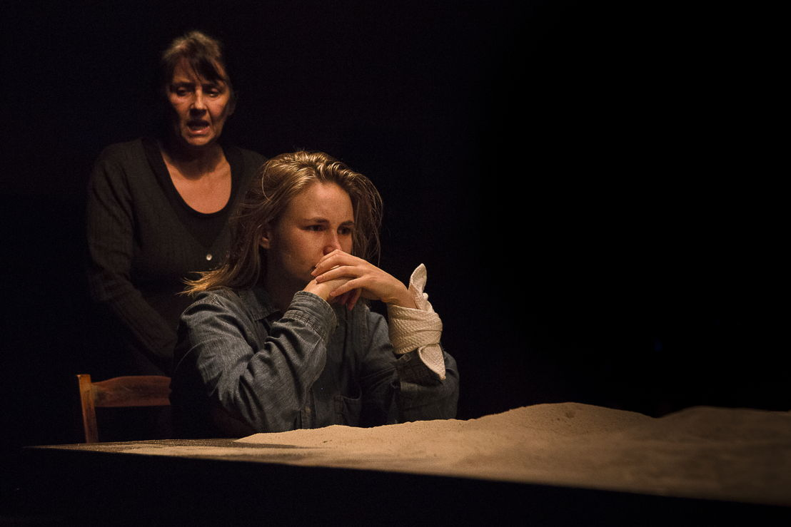Margot Wood as Gran and Sarah Grace Potter as Girl in The Edge of the Light. Image by Jesse Kramer