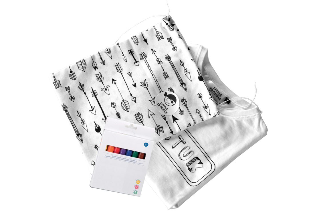 "Productshot shirt ""TOPSTUK"" + markers"