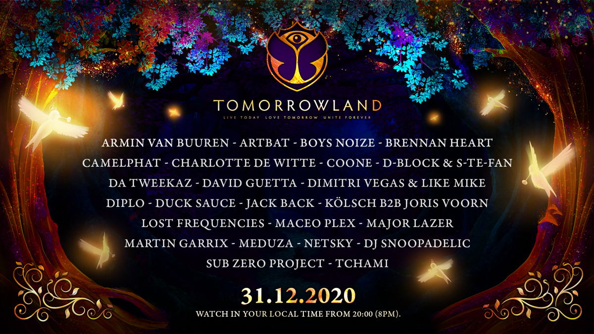 Tomorrowland 31.12.2020 - line-up