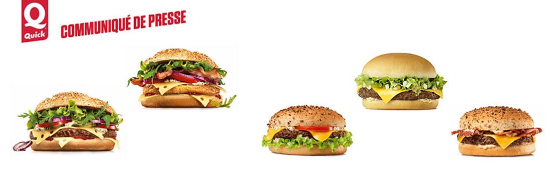 Vos hamburgers Quick préférés encore meilleurs!