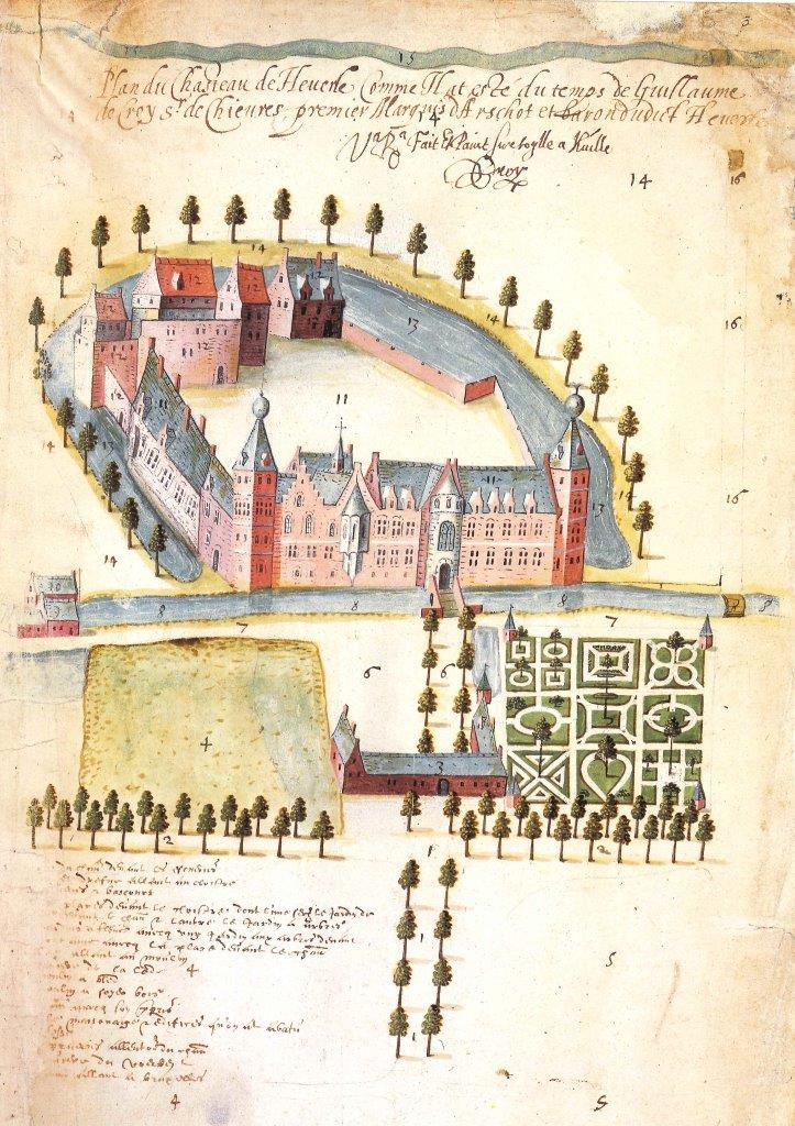 Pierre de Bersacques, Het Kasteel in Heverlee, 1596 © Bruno Vandermeulen - KU Leuven