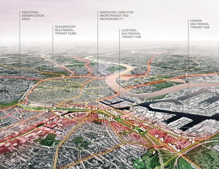 Oplossing voor files: multimodale hubs in voorsteden en aparte rijbanen tot aan het werk