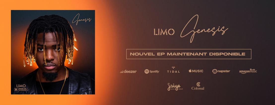 """Après le succès de sa reprise de """"Before You Wake Up"""" sur les réseaux sociaux et son titre """"Chérie Coco"""", LIMO vous présente son premier Ep """"Genesis"""""""