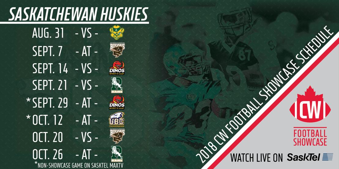 2018 Saskatchewan Huskies CW Football Showcase schedule