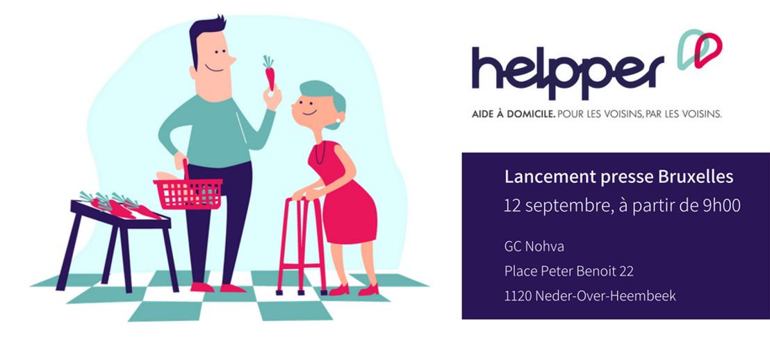 INVITATION PRESSE : Lancement de Helpper à Bruxelles