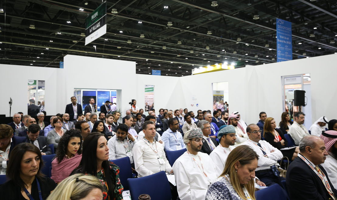 A crowded session at the Facilities Management Congress Middle East (FM EXPO) 2