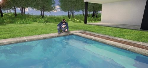 Een duik in uw toekomstige zwembad dankzij virtual reality