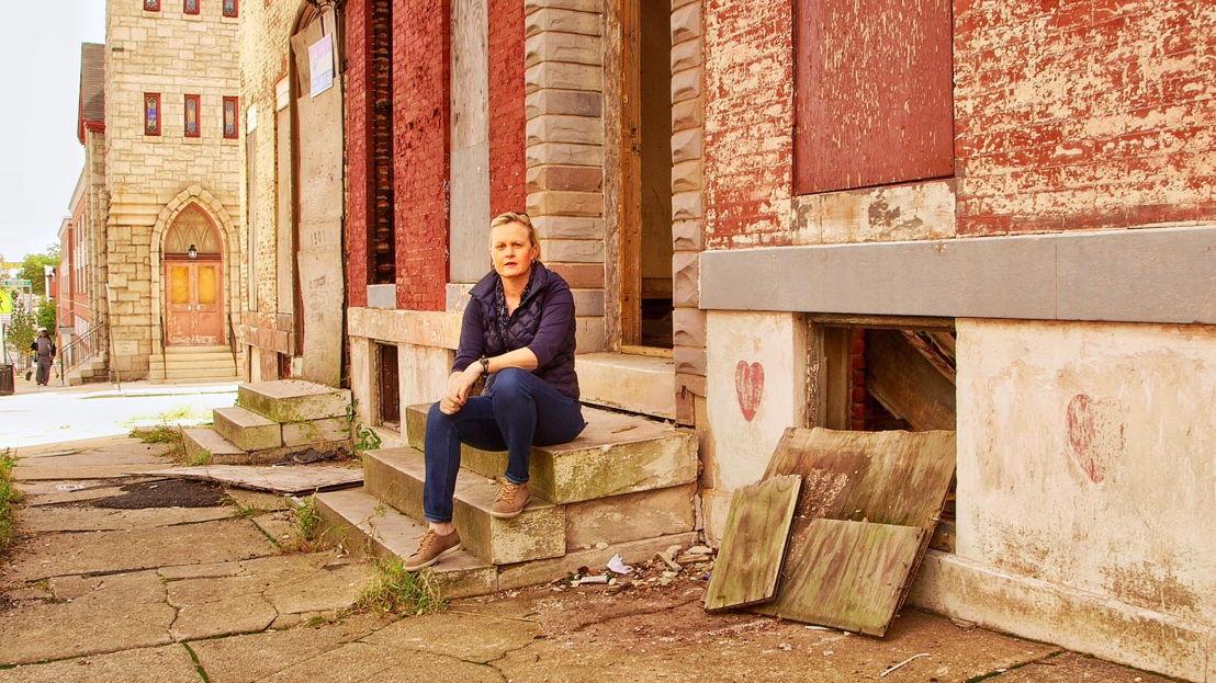 Sally Sara in Baltimore