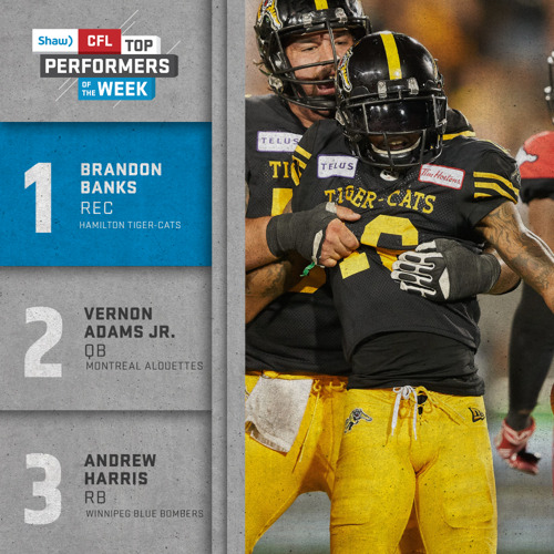 SHAW CFL TOP PERFORMERS – WEEK 5