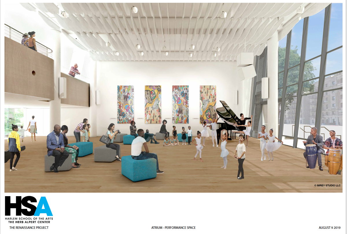 Harlem School of the Arts Reception/Multi-Format Performance Space rendering