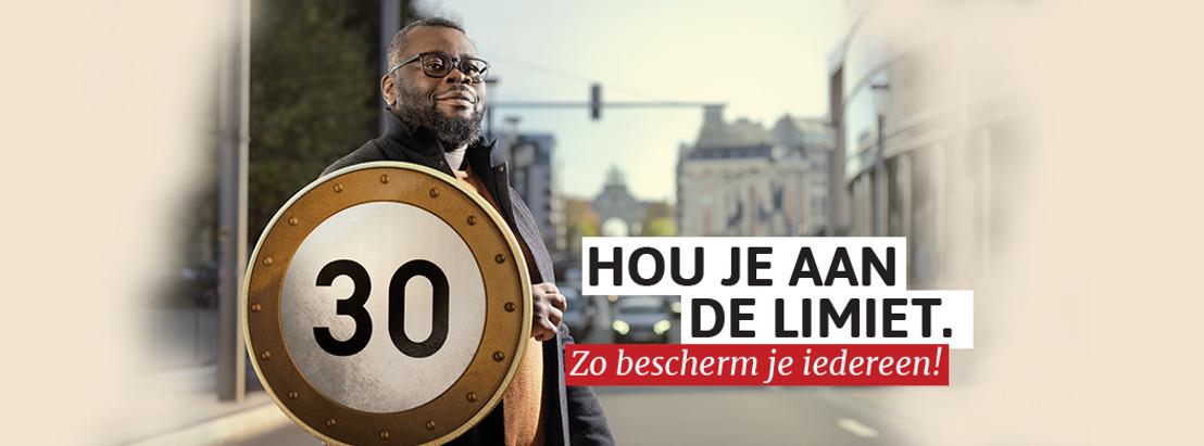 VO Citizen & Voice Agency moedigen de Brusselaars aan om minder snel te rijden.