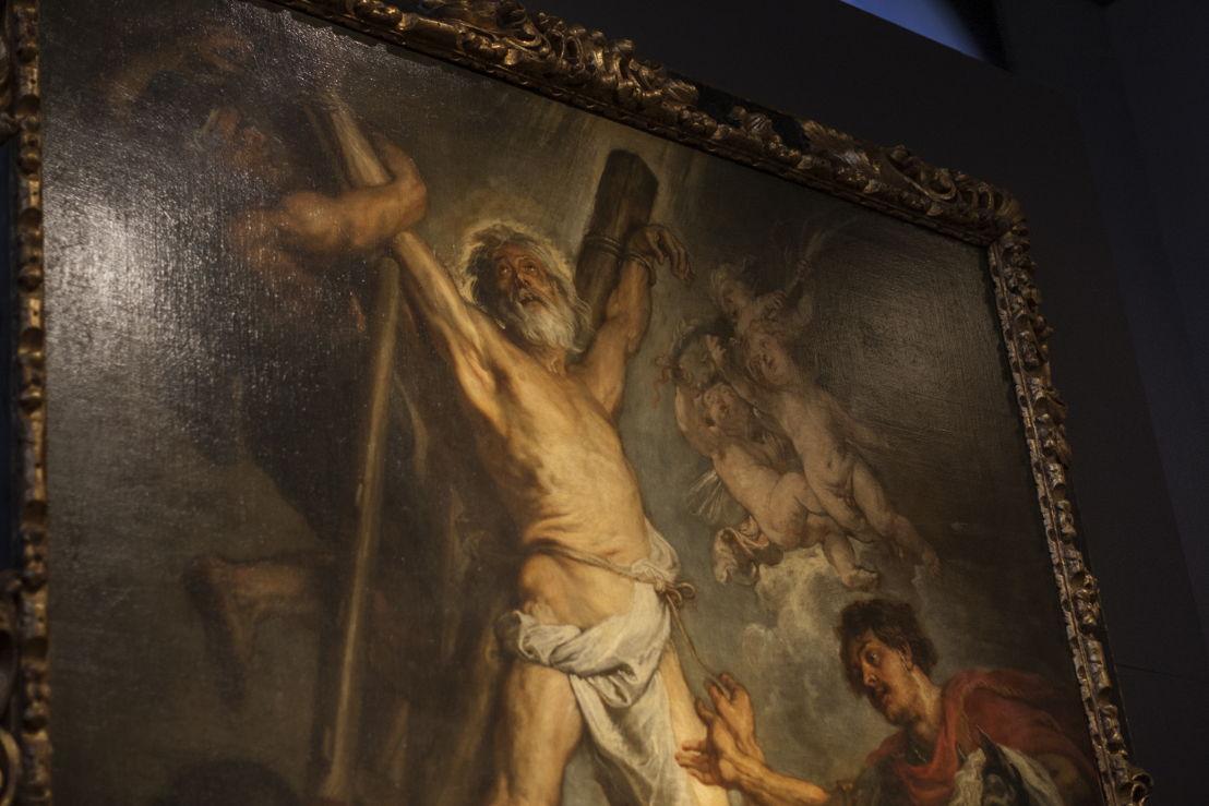 Peter Paul Rubens, Marteldood H. Andreas, detail (in situ in Rubenshuis), Fundación Carlos de Amberes te Madrid, foto Ans Brys