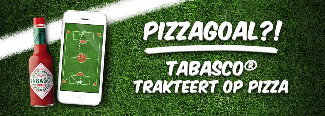 Tabasco® geeft gratis pizza's weg bij Pizzagoals