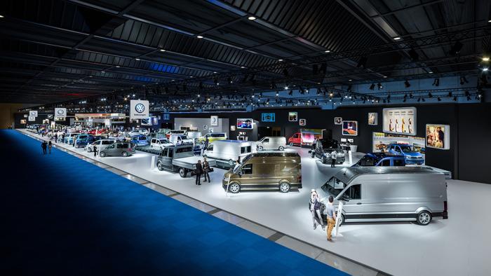 Volkswagen en Volkswagen Commercial Vehicles op het autosalon van Brussel (Paleis 11)