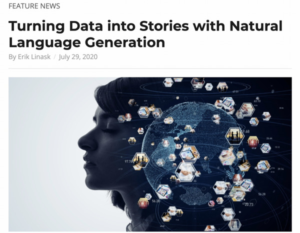 Preview: Turning data into stories with Natural Language Generation