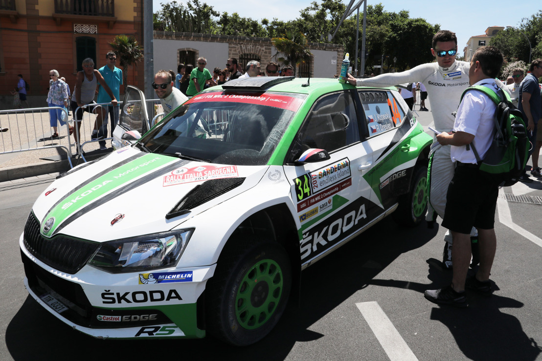 Rally Italia Sardegna: Jan Kopecký/Pavel Dresler dominating WRC 2 with their ŠKODA FABIA R5
