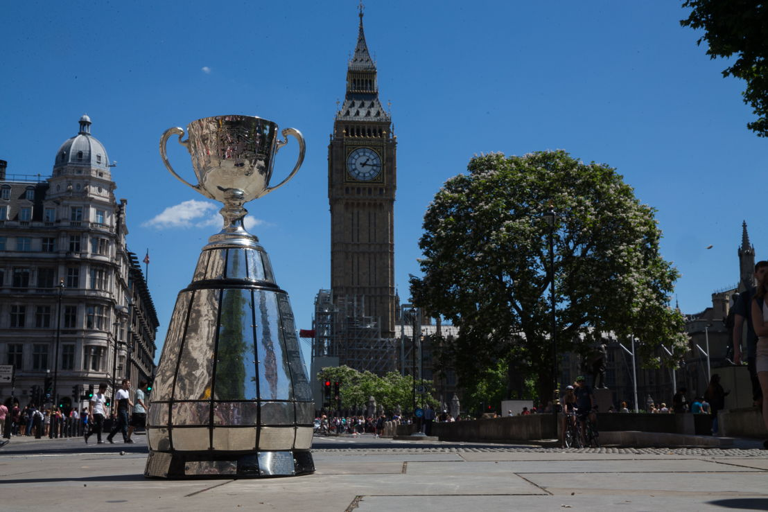 Grey Cup with Elizabeth Tower (Big Ben) in the background. Photo: Jim Ross/CFL.