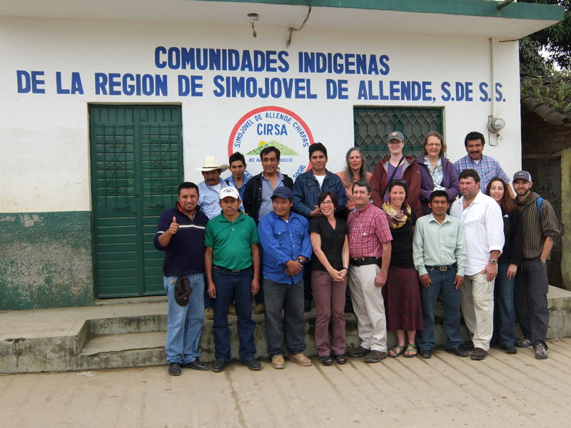 Representatives of CIRSA, Equal Exchange and the Hanover Co-op Food Stores build cooperation among cooperatives.