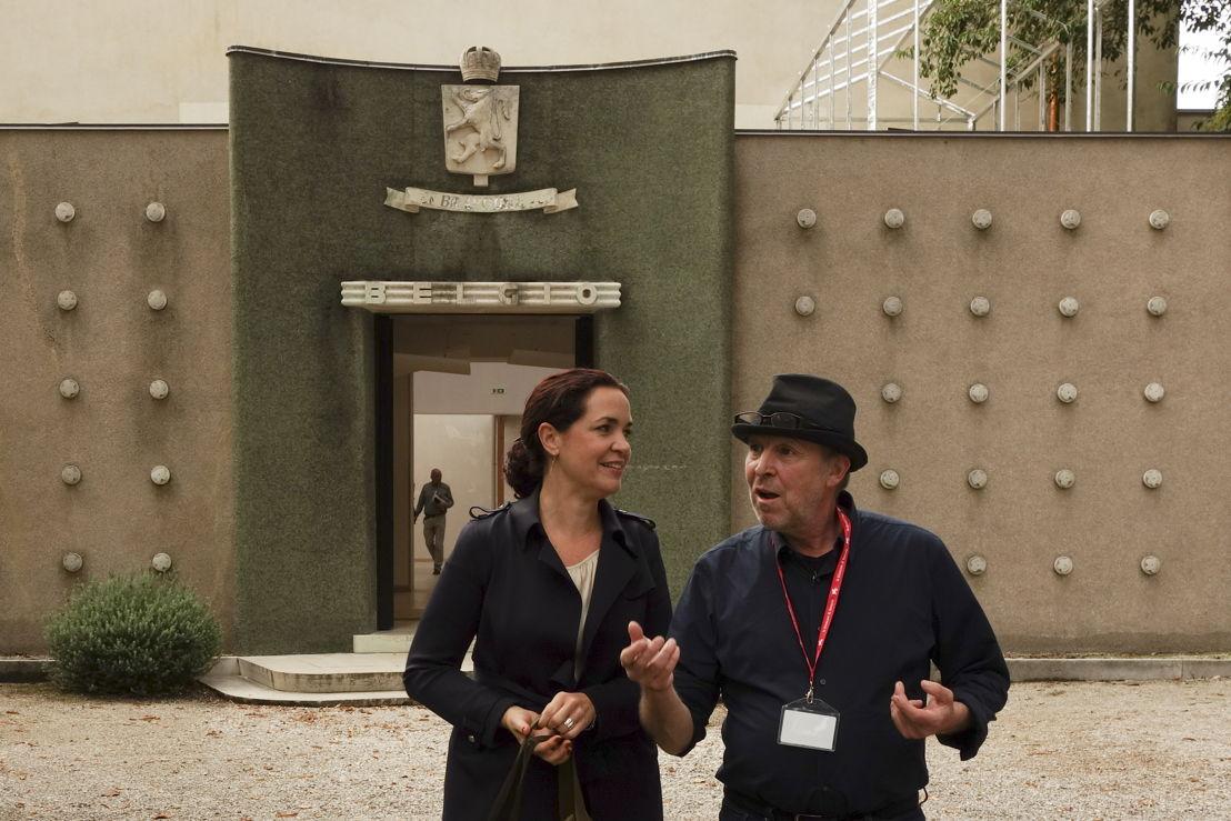 Eva Wittocx en Dirk Braeckman, Belgisch paviljoen Venetië ©  Sarah Bruyninckx