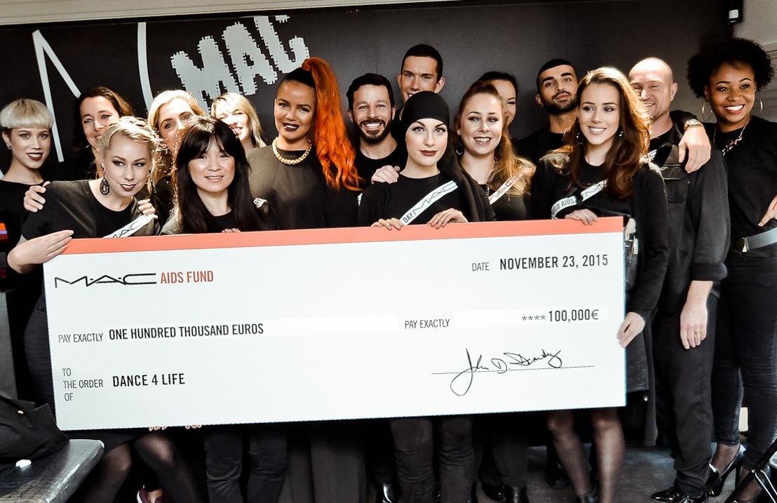 M.A.C Cosmetics doneert €100.000,- aan dance4life!