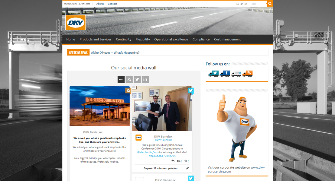 DKV change sa plateforme en ligne