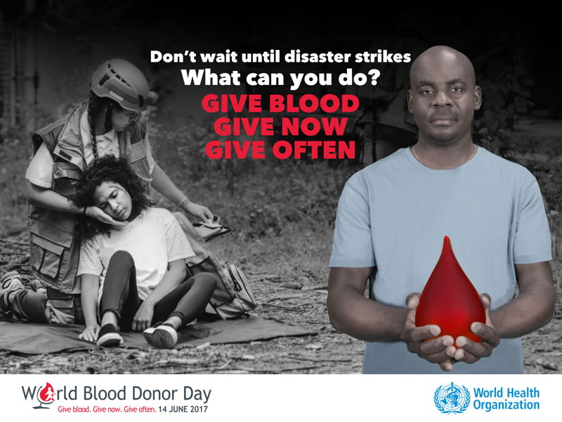 WHO World Blood Donor Day 2017 Poster
