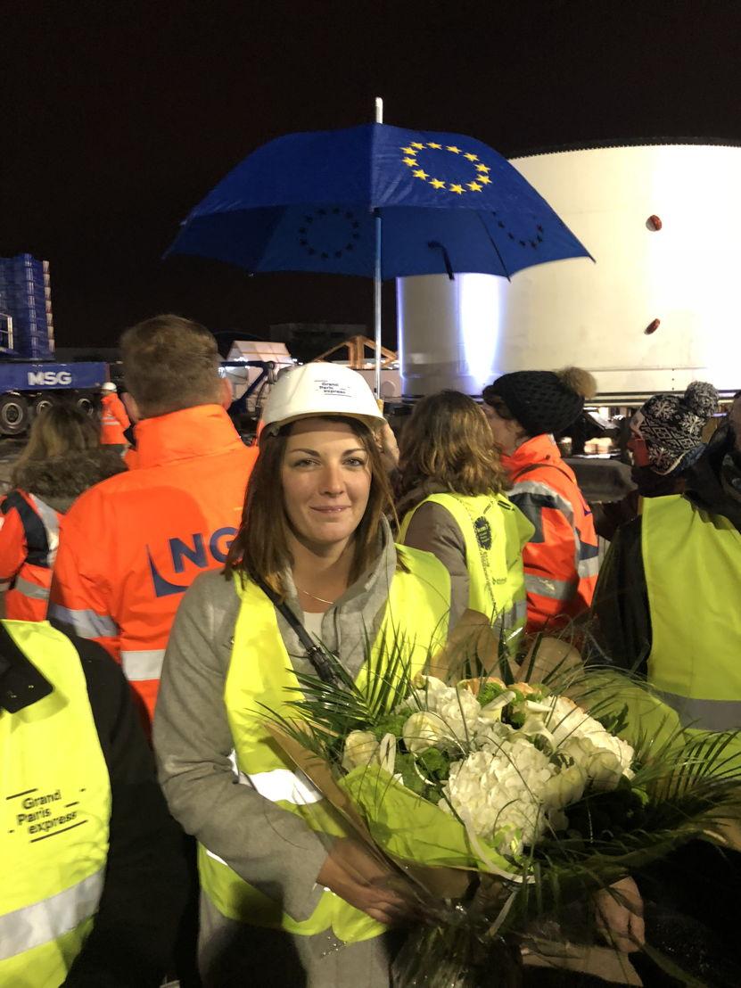 Notre collaboratrice Steffie Biou, « marraine » du tunnelier