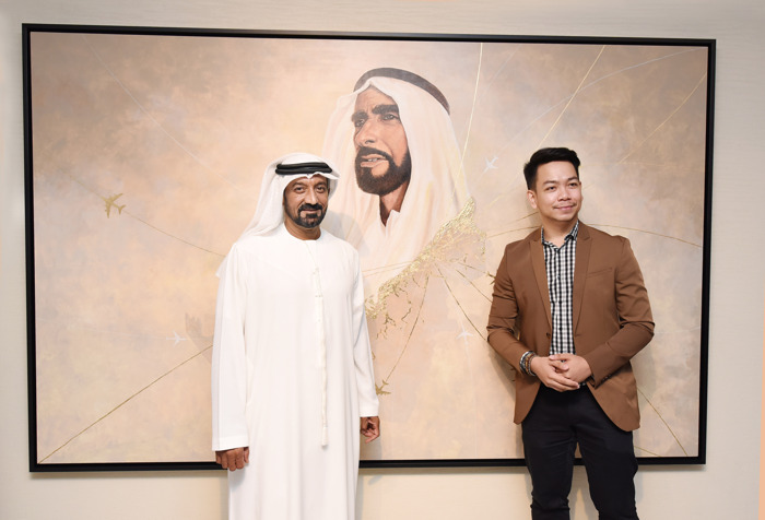 The Emirates Group unveils 'From the Heart of Zayed' art piece at its Headquarters