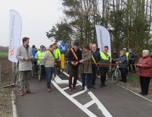 Nieuw stuk fietssnelweg op F423 Eeklo - Zelzate geopend