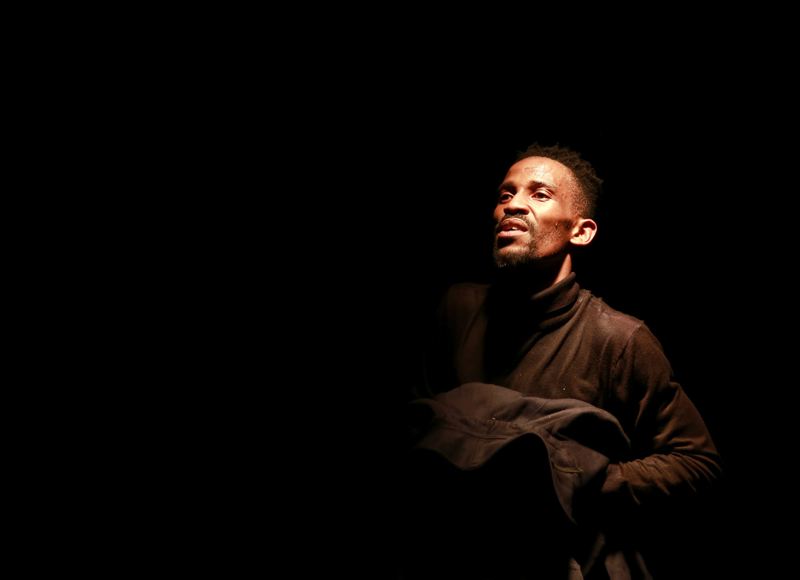 Simo Majola in The Funeral. Image by Nardus Engelbrecht