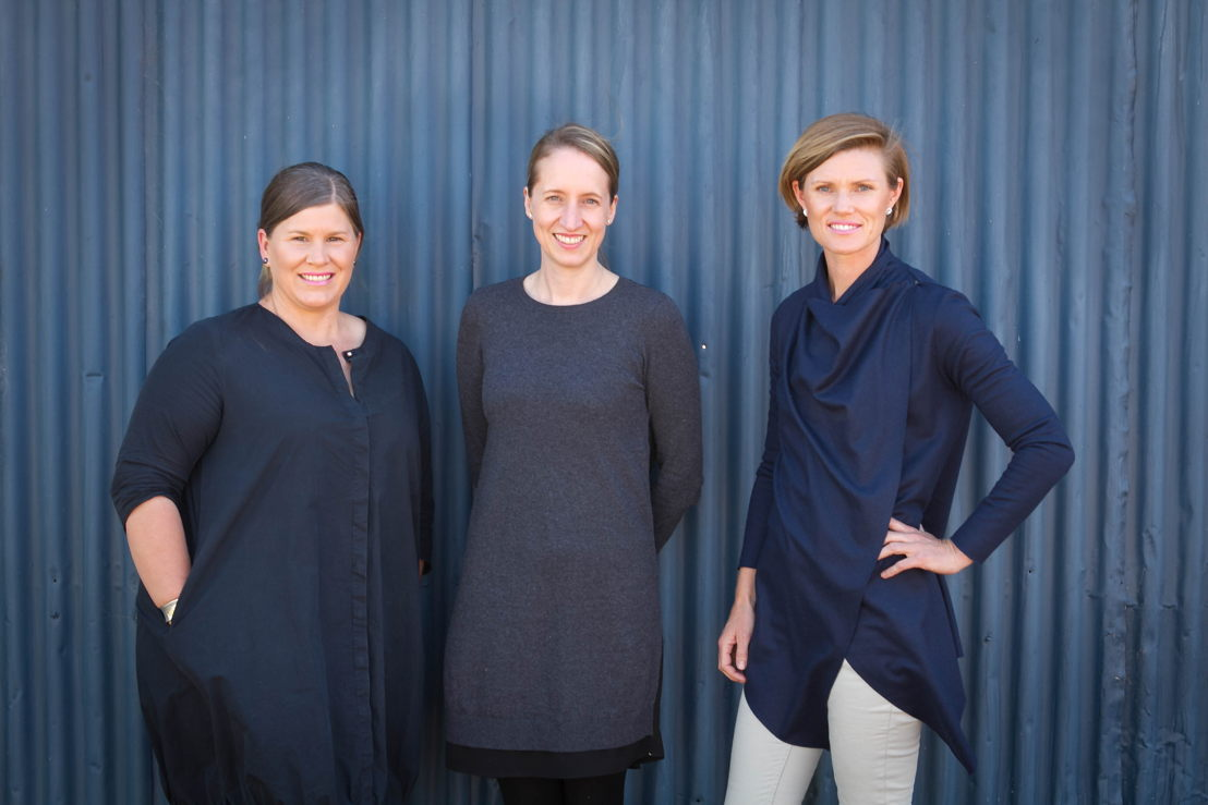 Left to right - Arlie Felton-Faylor (Presenter), Jodie Gunders (Executive Producer), Amy Phillips (Presenter).